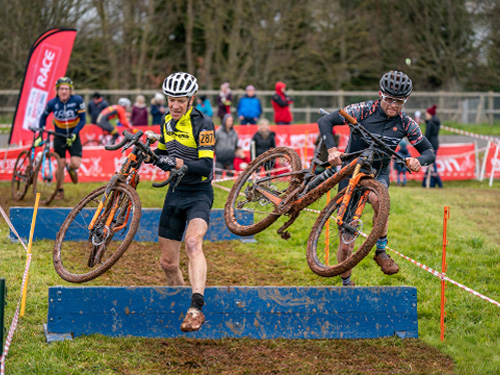 Cyclo-Cross League Racing 2020 at the VeloPark, Paignton, Devon.