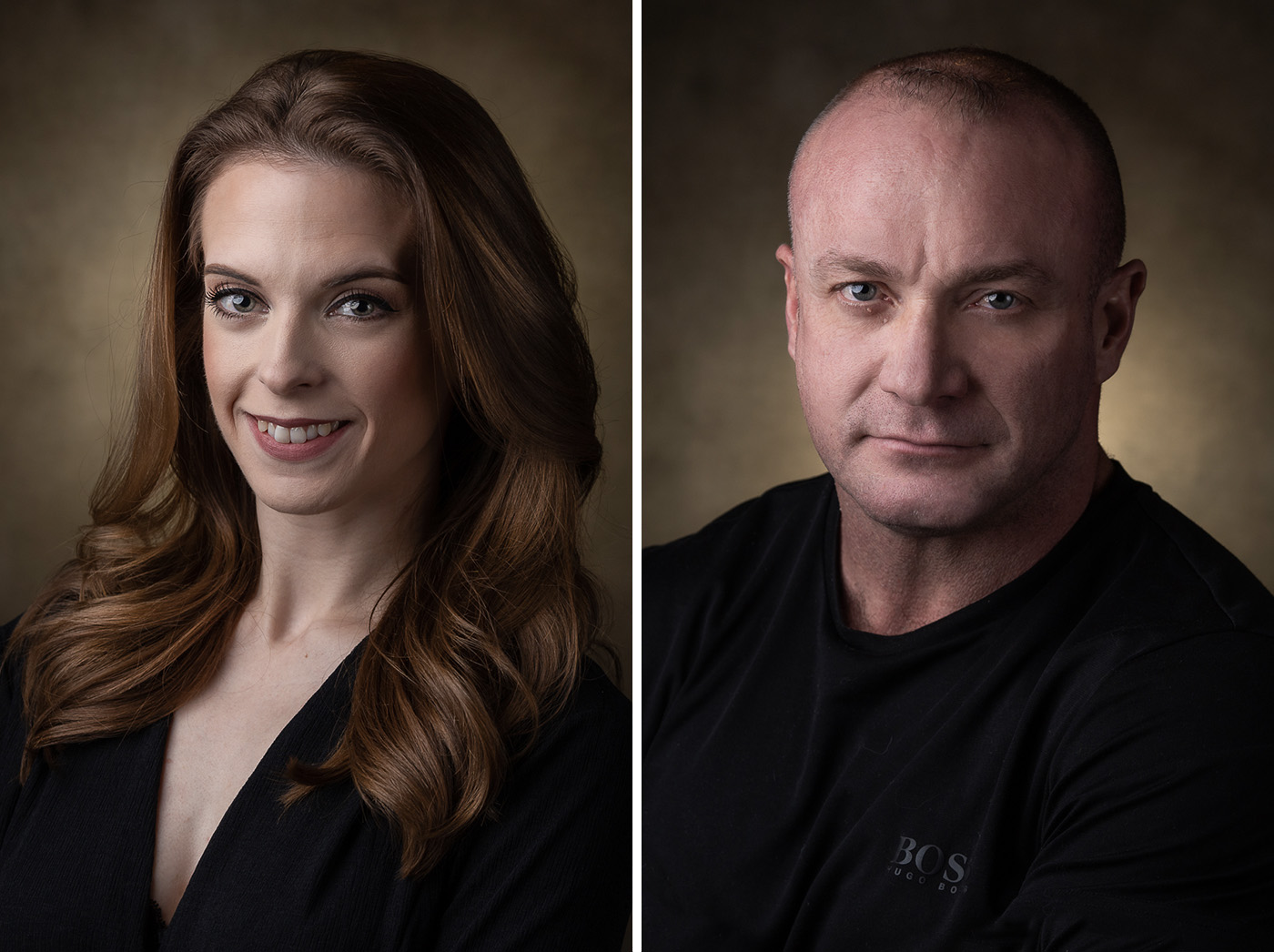 Headshot portraits for cast in Paignton.