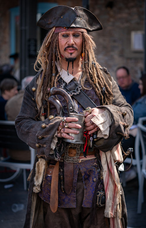 Portrait of a Brixham pirate.