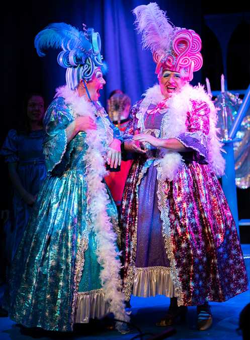 Wicked sisters, Cinderella dress rehearsal at the Pavilions Teignmouth.