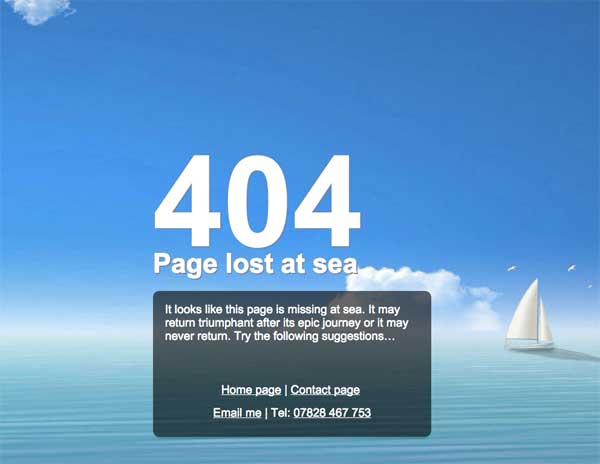Torbay Fishing error page