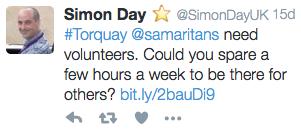 Sam's Tweet.