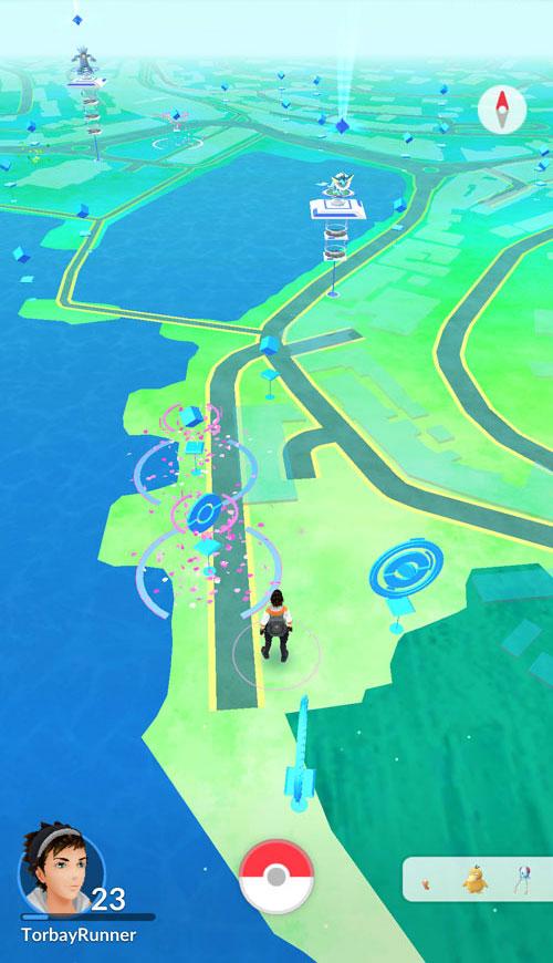 Pokemon Go in Torquay best spot.