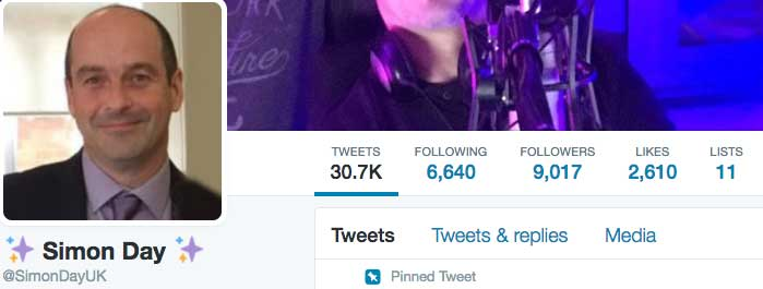 9,000 Twitter followers.