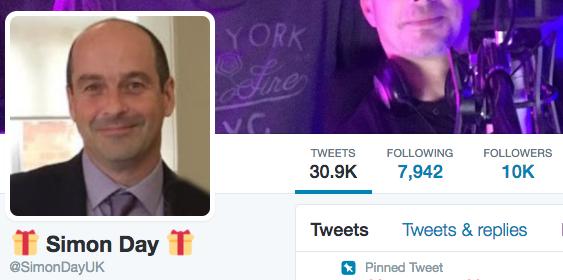 10,000 Twitter followers.