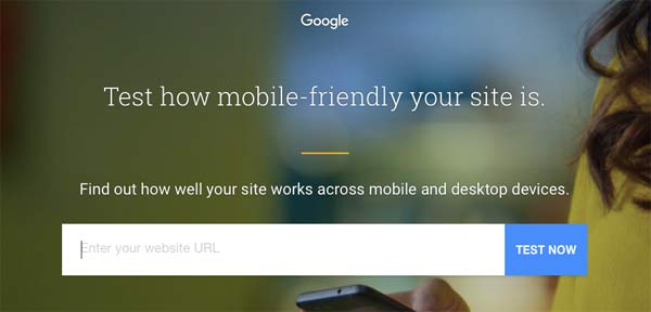 Test your site on Google.
