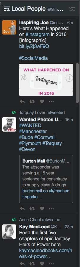Twitter List Example.