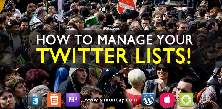 How to manage your Twitter lists.