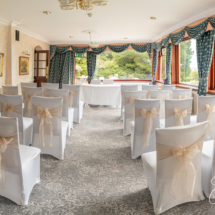 The wedding reception room at the Gipsy Hill Hotel, Exeter, Devon.