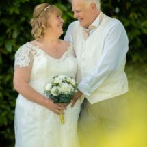 Husband and wife newlyweds.