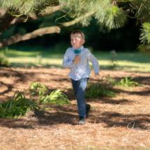 Wedding boy running