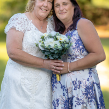 Bride and best friend.