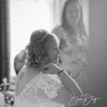 Bride at wedding, Gipsy Hill Hotel, Exeter, Devon.