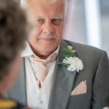 Nervous Groom Bride at wedding venue Gipsy Hill Hotel, Exeter, Devon.