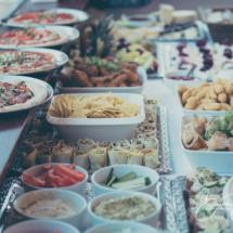 Gipsy Hill Hotel wedding reception food, buffet