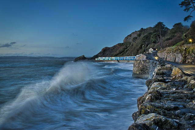 A long exposure of the waves, taken with budget DSLR camera and no ND filter.