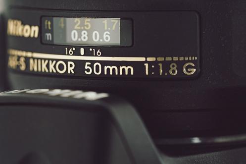 The Nikon 50mm F1.8 prime lens