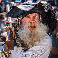 Pirate at Brixham Pirate Festival