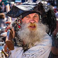 Pirate at Brixham Pirate Festival