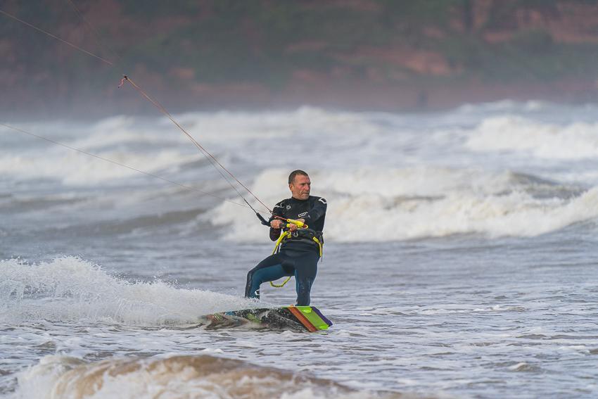 Dave Ibby kite surfing in Paignton, Devon.