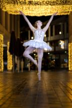Ballerina Christmas photoshoot in Princesshay, Exeter, Devon