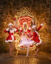 Dance group Christmas photoshoot in Princesshay, Exeter, Devon