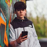 Portrait with graffiti