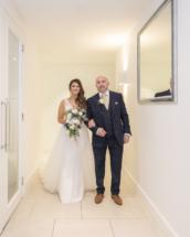 Bride walking towards ceremony room