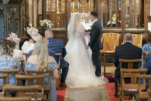 Bride and Groom inside the church