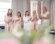 Bridal Prep. Toasting the Bride