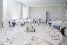 Wedding reception room at the Osborne Hotel, Torquay.