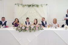 Wedding table all laughing